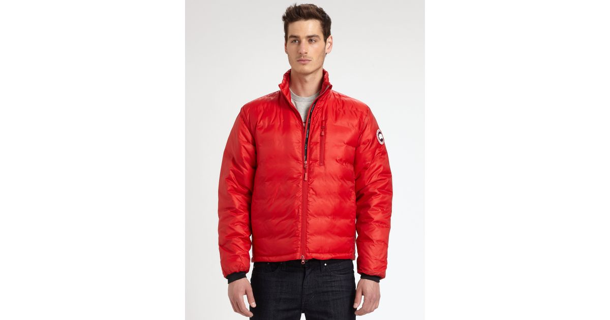 Canada Goose' Men's Lodge Down Jacket - Red - Size L
