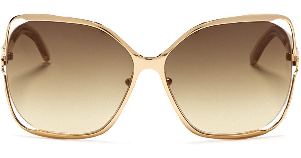 framed sunglasses - Metallic Chloé AM7PC8eUnk
