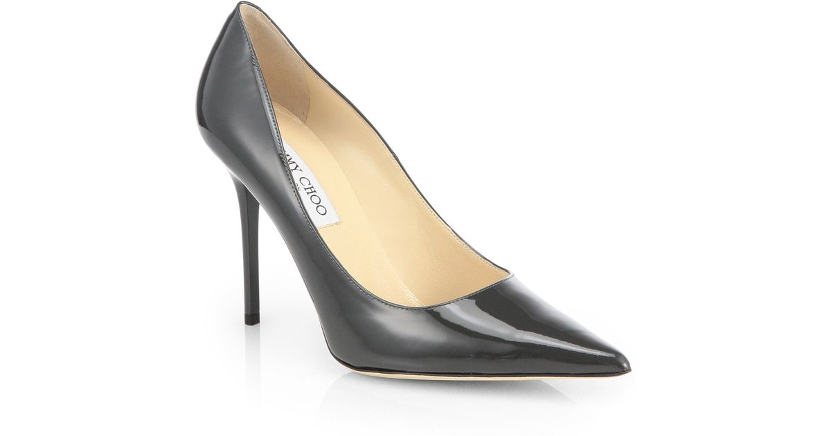 Jimmy choo Women's Hickory 100 Suede & Patent Leather Cutout High-Heel Pumps nOGI6CJNK