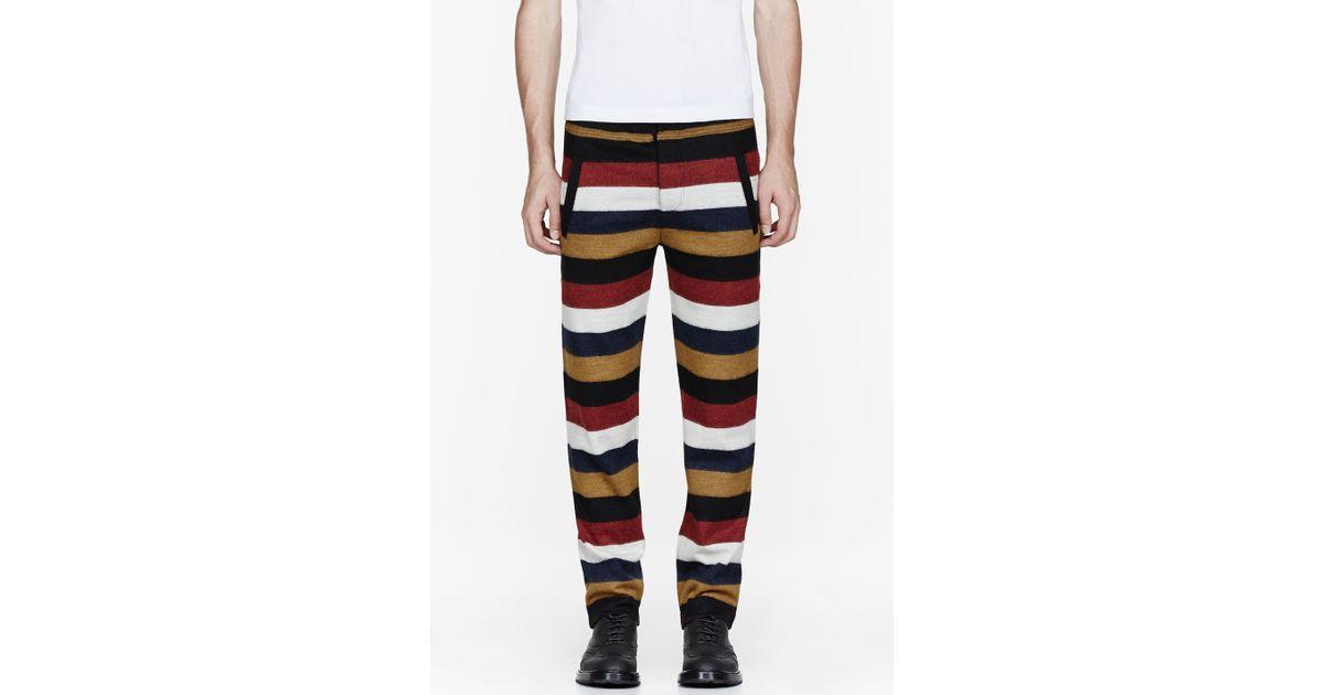 88448167ae10 Lyst - KENZO Burgundy Bold Stripe Lounge Pants for Men