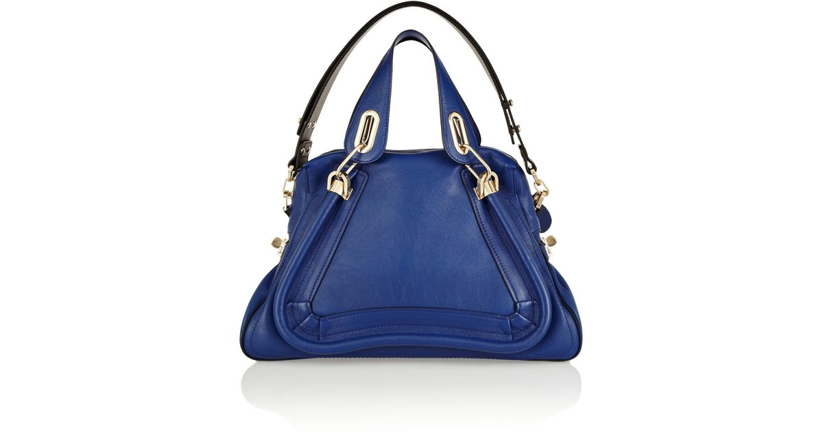 0746566ac968 Lyst - Chloé The Paraty Military Medium Leather Shoulder Bag in Blue