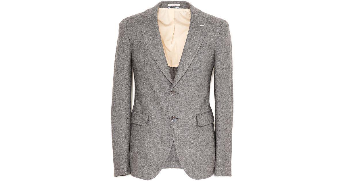 Exceptionnel Gant rugger Herringbone Peak Lapel Blazer in Gray for Men | Lyst BS25