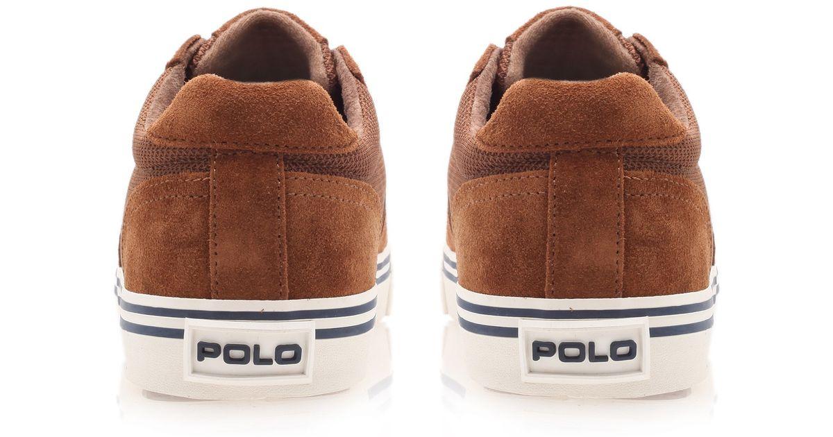 Sneaker For Ralph Men Brown Polo Hanford Suede Lauren qzSGpUMV