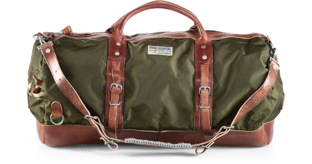 d6e344d744d3 ... where can i buy lyst polo ralph lauren yosemite duffle in green for men  ecc6f 2ad39