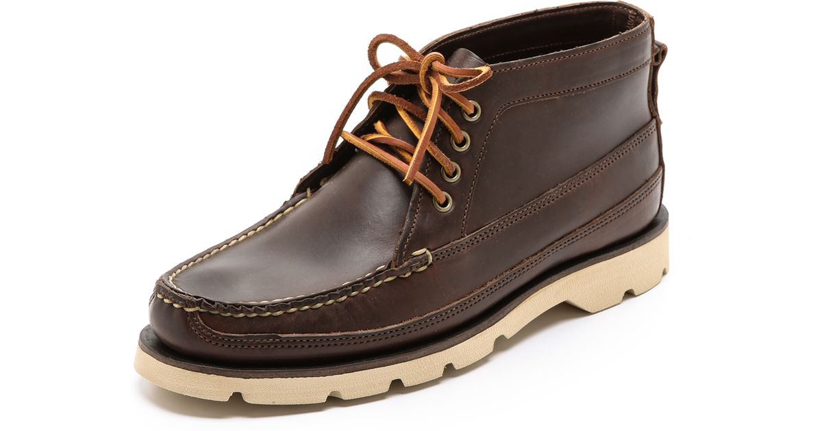 3a45f9581562 Lyst - Sperry Top-Sider Made in Maine Boat Chukka Boots in Brown for Men