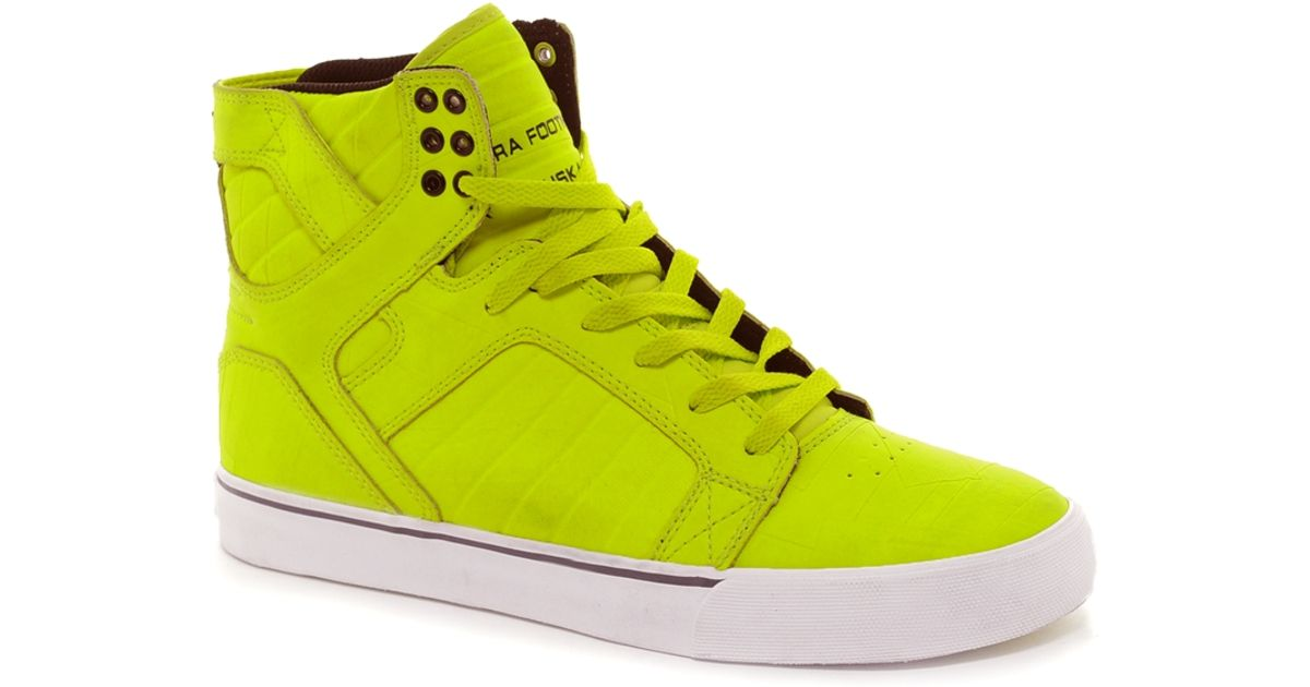 4548c3daee Lyst - Supra Skytop Duct Tape Trainers in Yellow for Men