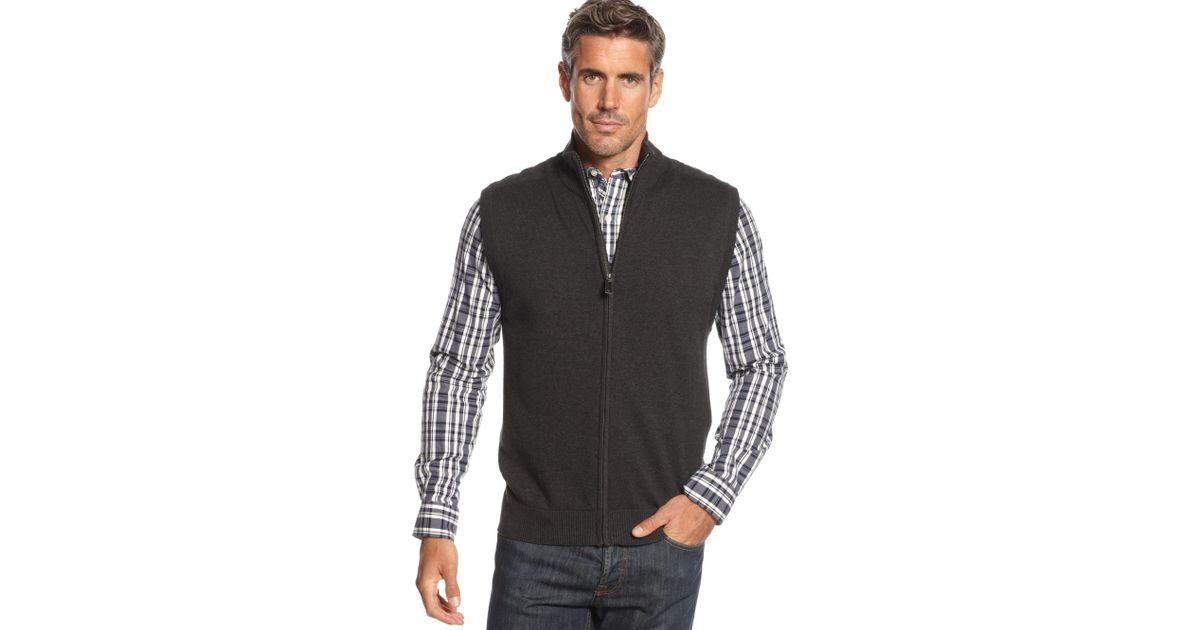 Charcoal Gray Sweater Vest Coat Nj