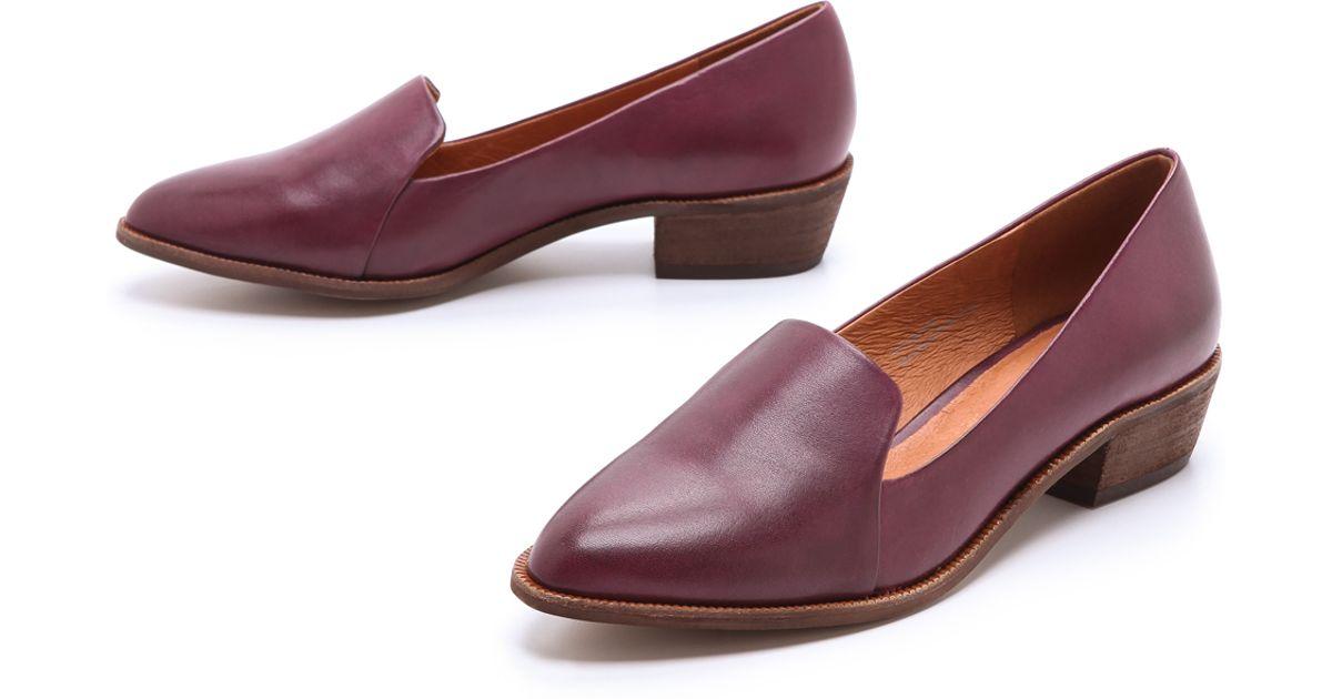 1c2e9c2e1a5 Lyst - Madewell Mini Heel Loafers in Purple