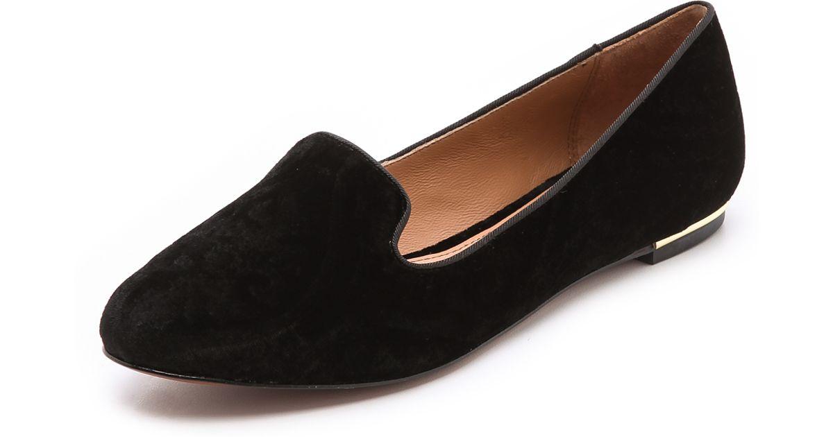 b715a9f44ec Lyst - Rachel Zoe Zahara Velvet Loafers in Black