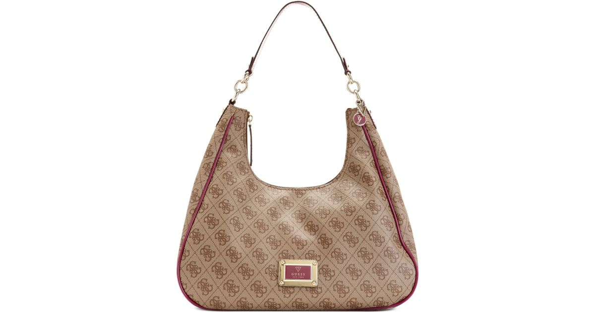 8ac6bd2e3ab Lyst - Guess Guess Handbag Reama Hobo in Natural