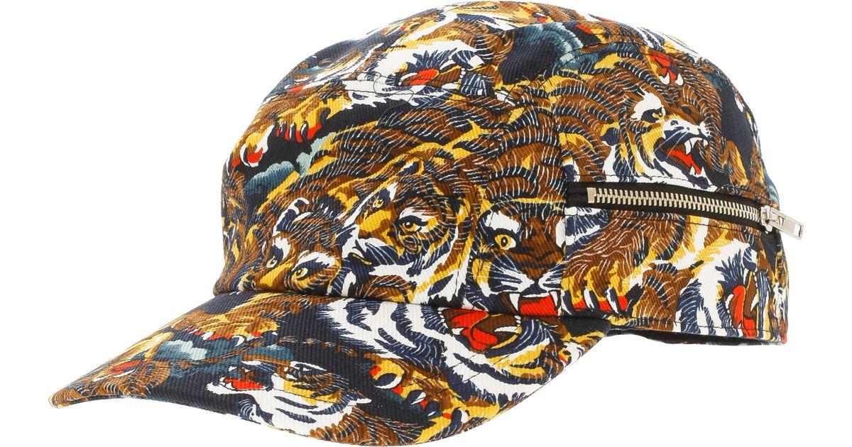 Lyst Kenzo Tiger Print Cap In Black For Men. Tigers Print Gg Supreme ... 03a5ff139f7f