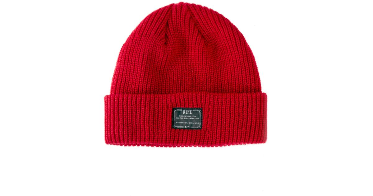 Lyst - Nike Fisherman Beanie Hat in Red for Men 16d20dd267d
