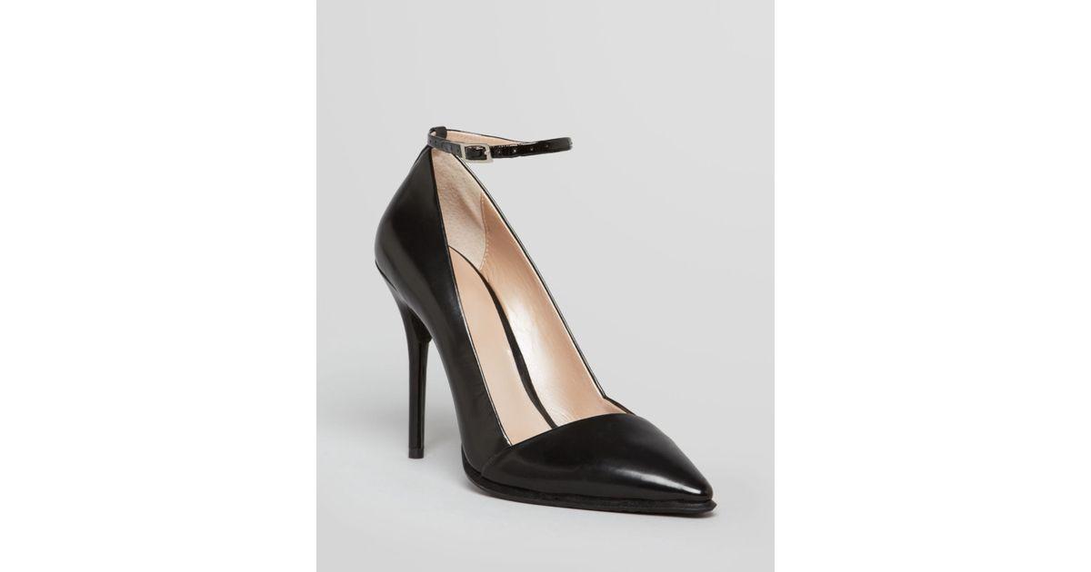 6941ea09c84 DKNY Black Pointed Toe Pumps Saffi Ankle Strap High Heel