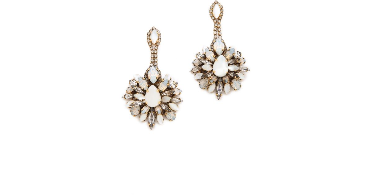 75afc03d5 Lyst - Erickson Beamon Winter Shade Of Pale Crystal Earrings in Green