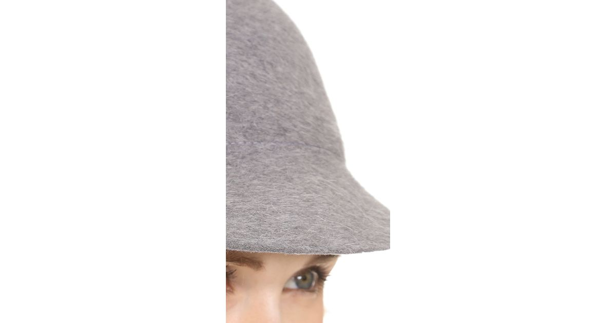 cdec309a09065 Lyst - Eugenia Kim Joey Wool Baseball Cap in Gray