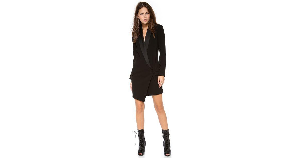 d2b6b03ad58f75 Haute Hippie Oversized Blazer Dress Black in Black - Lyst