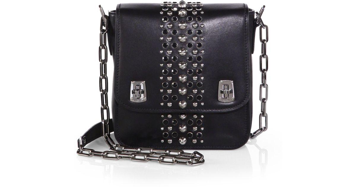 4dd1ac901793 Lyst - Miu Miu Studded Shoulder Bag in Black