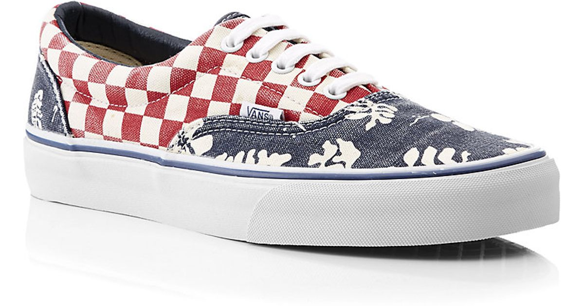 3024212fc7 Vans Van Doren Era Shoes in Checkerboard Aloha Print in Blue for Men - Lyst