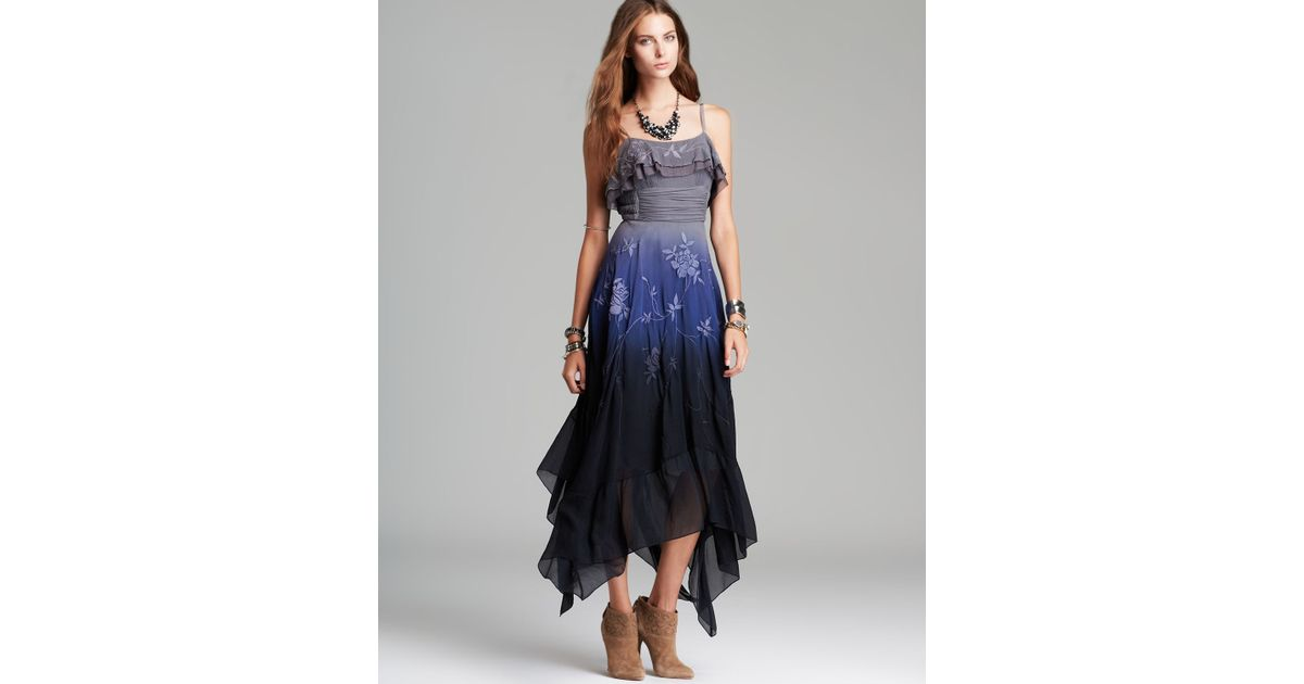 Lyst - Free People Dress Diaphanous Damsel Party in Blue