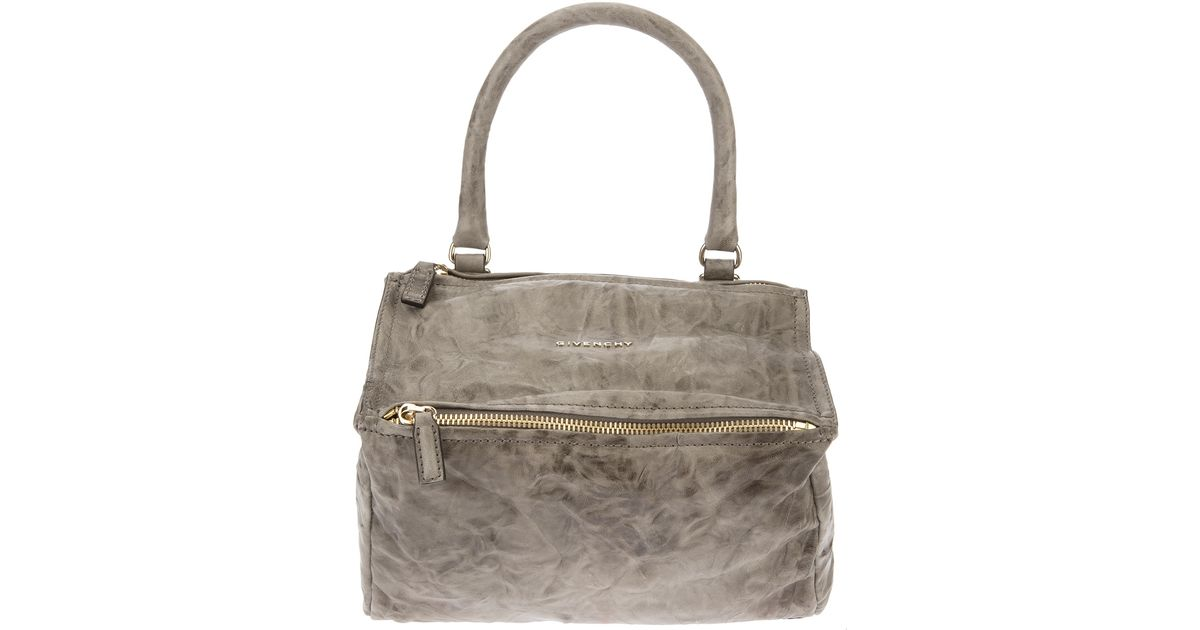 e33fd95493 Lyst - Givenchy Crumpled Small Pandora Shoulder Bag in Gray