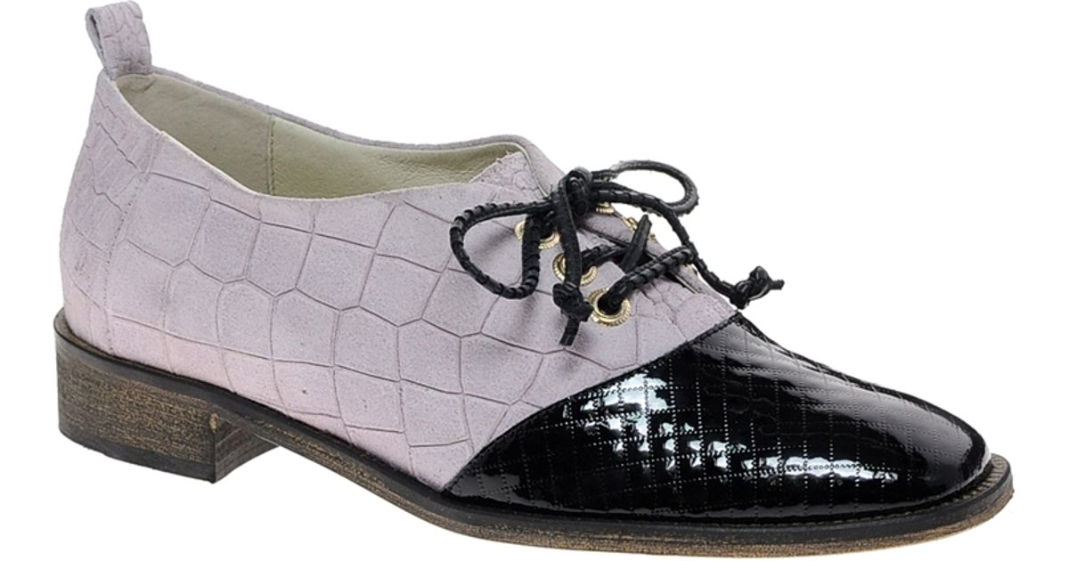 New kid Penny Cherry Flat Lace Up Shoes in Gray | Lyst