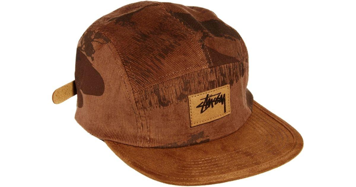 8322375d8dc 8a11c d54d4 closeout lyst stussy wildlife savannah 5 panel cap in brown for  men 83a68 b8d3d ...
