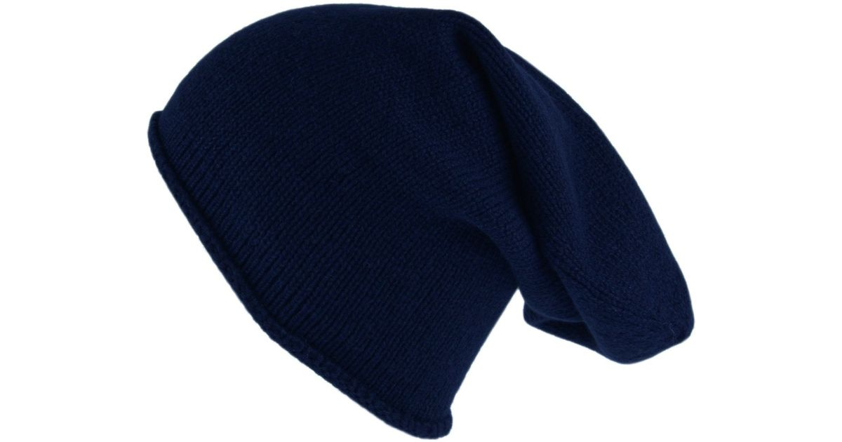 78a42588fed top quality uk navy blue cashmere slouch beanie hat in blue for men 89ceb  8b25d