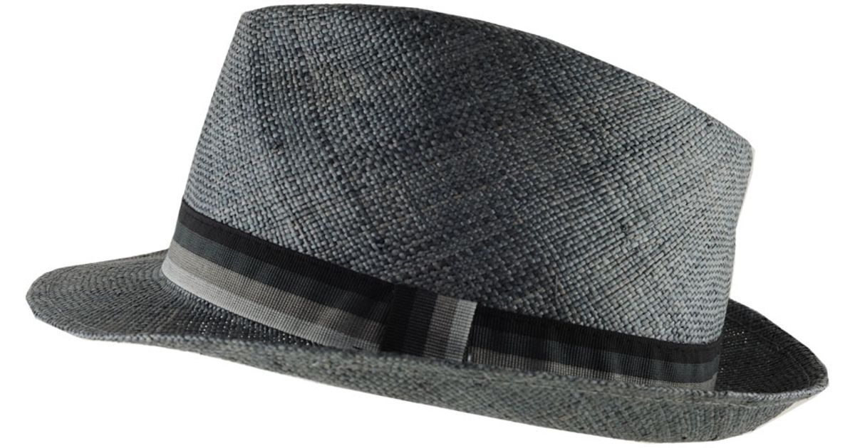 Fedora Hat Cotton Bright Coloured Blue Pink Black New Band ...  |Blue Black Band Fedora