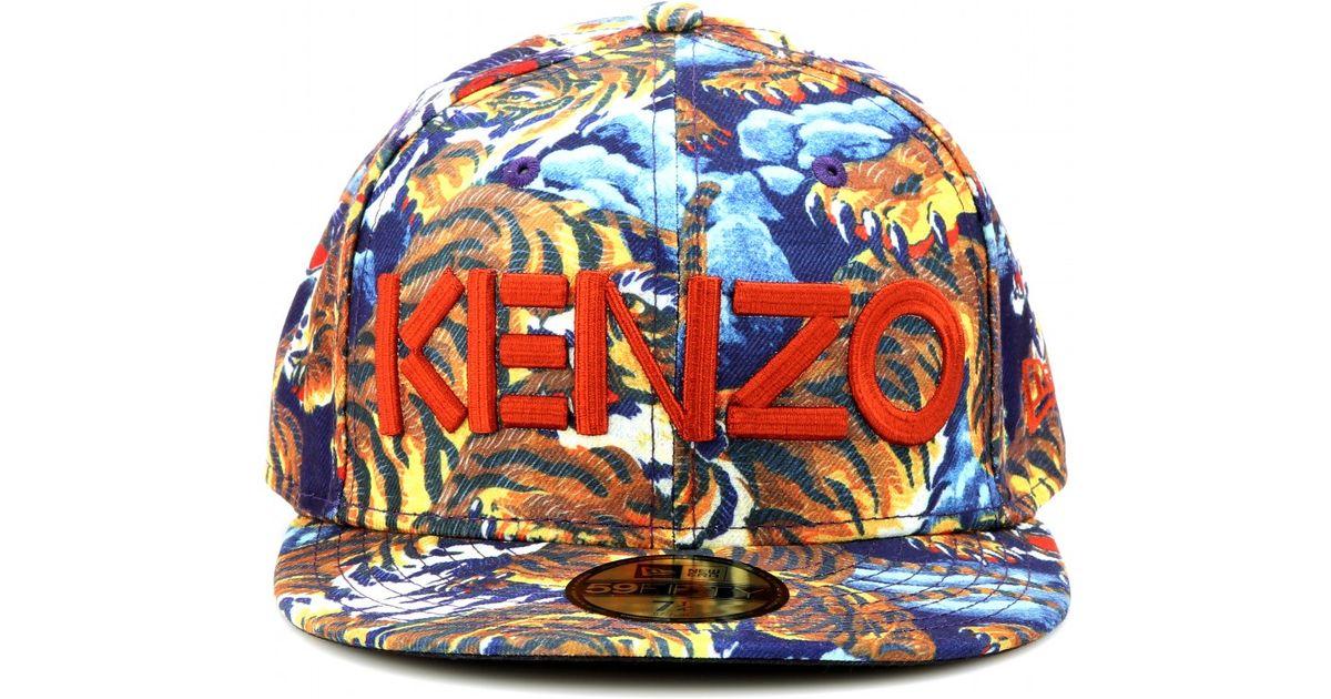 Lyst - KENZO Flying Tiger Printed Baseball Cap in Blue 8b5f0d868f6
