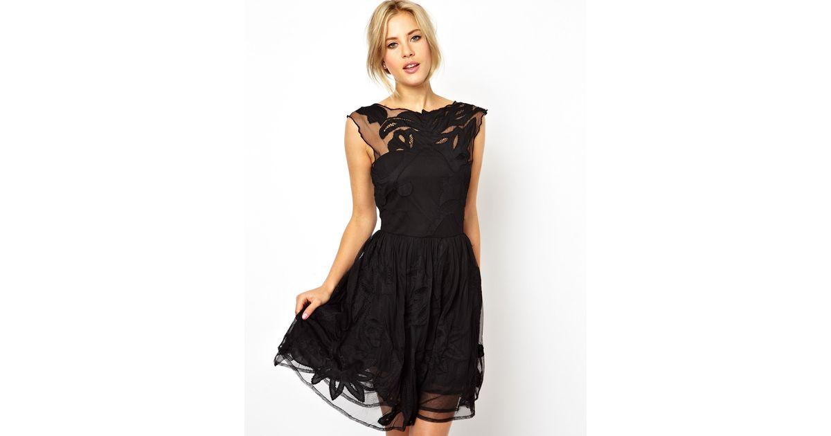 Lyst Asos Gothic Prom Dress In Black