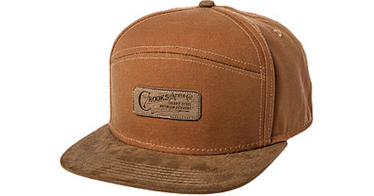 3aadcd6b608 Lyst - Crooks and Castles The Heavy Steel Strapback Hat in Natural for Men