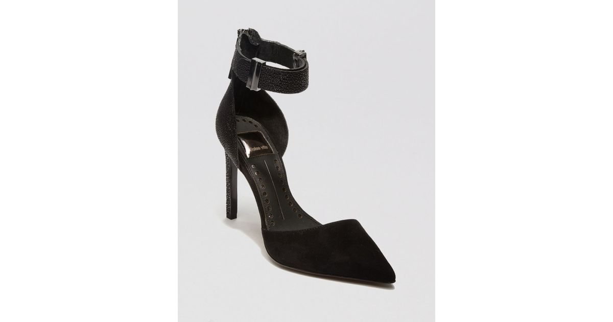 Lyst - Dolce Vita Pointed Toe Pumps Kana Ankle Strap High Heel in Black