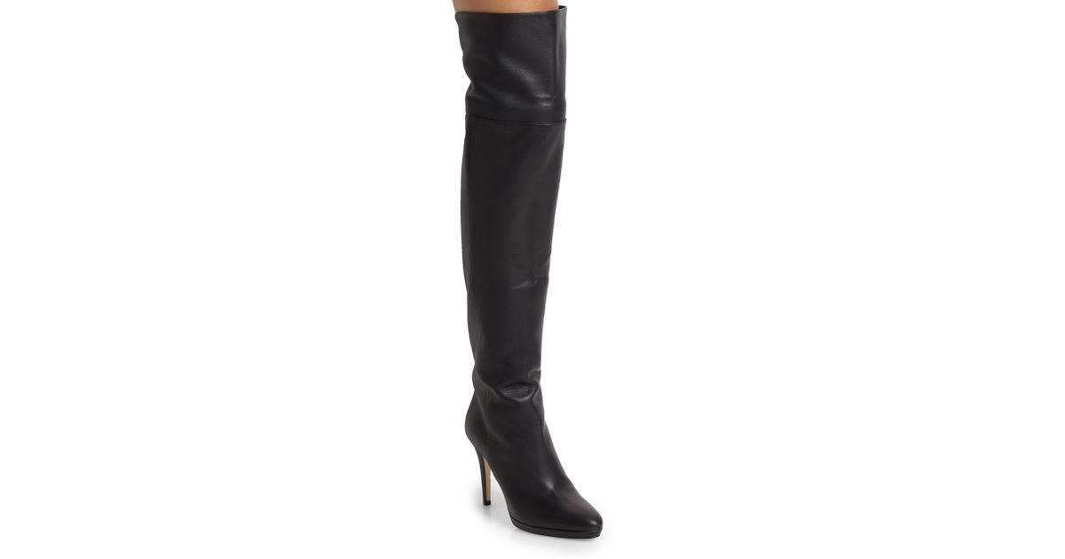 83024bd96aa6 Lyst - Jimmy Choo Gypsy Leather Over-the-knee Boots in Black