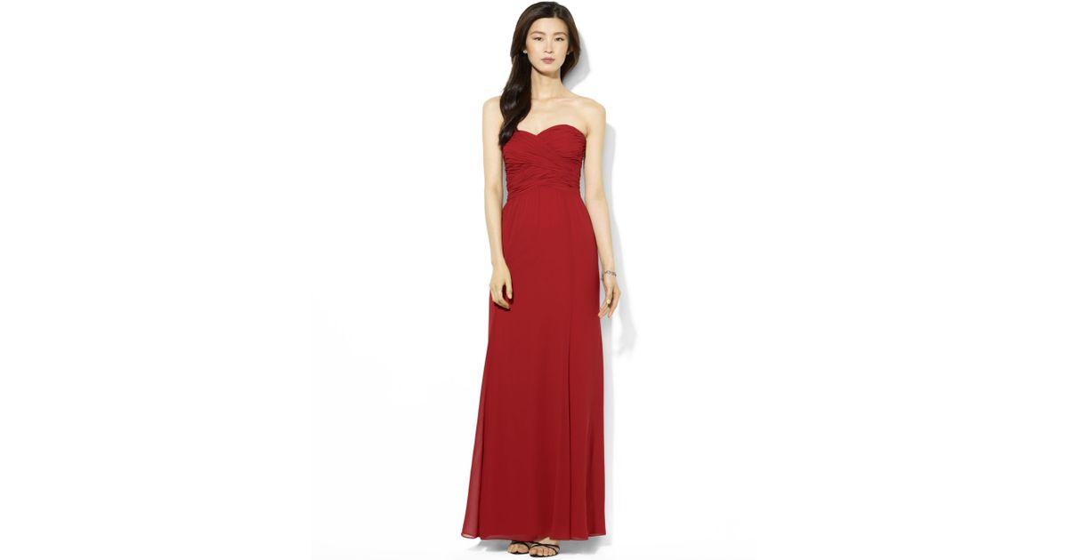 Lyst - Lauren By Ralph Lauren Lauren By Ralph Lauren Dress Strapless ...