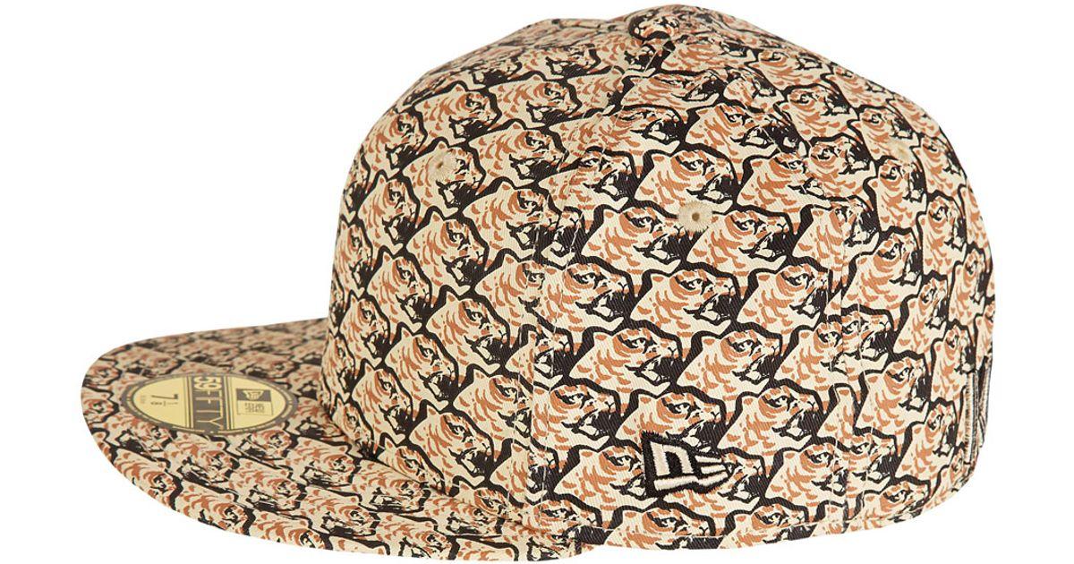 Lyst - KENZO Beige New Era Tiger Heads Cap in Natural for Men e02f846d0ae