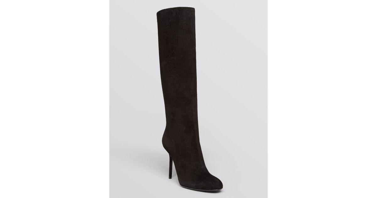 ac96cf354 Lyst - Burberry Tall Boots Belmarsh High Heel in Black