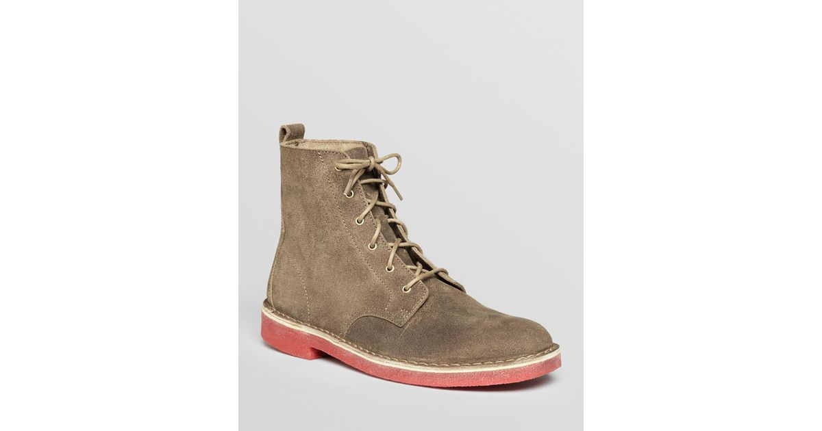Clarks Desert Mali Suede Boots in Taupe