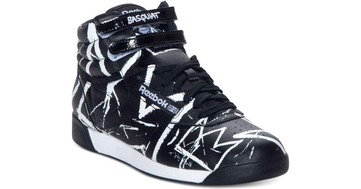 Reebok Hi Sneakers Basquiat Black Athletic Casual Freestyle sCtdrhQ