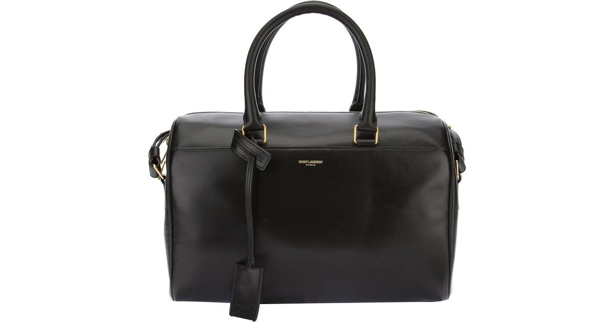 69a6bfeb6d87 Lyst - Saint Laurent  classic Duffle 6  Bag in Black