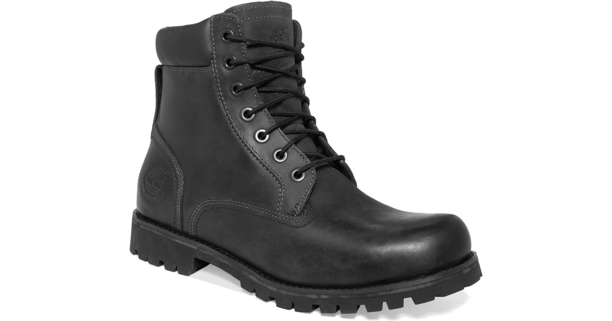 eb504037fbd Timberland Black Earthkeepers Rugged 6 Waterproof Boots for men