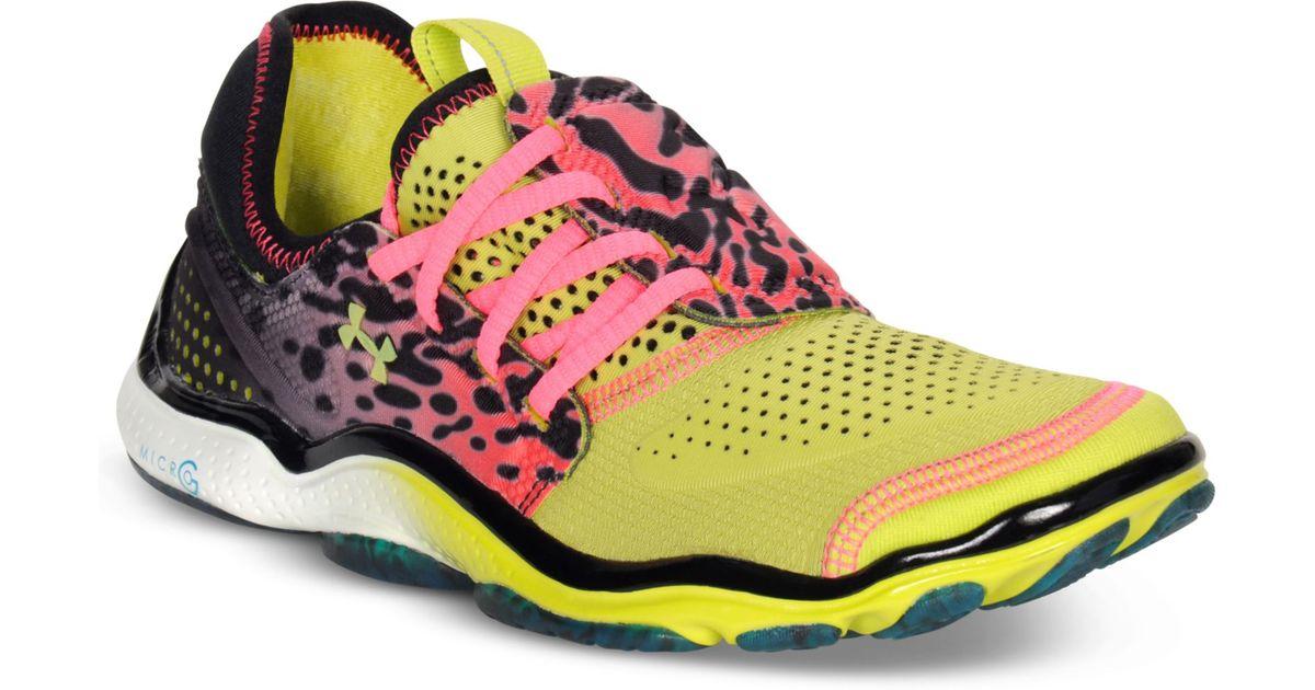 wysoka jakość szeroki wybór Kup online Under Armour Yellow Micro G Toxic Six Running Shoes