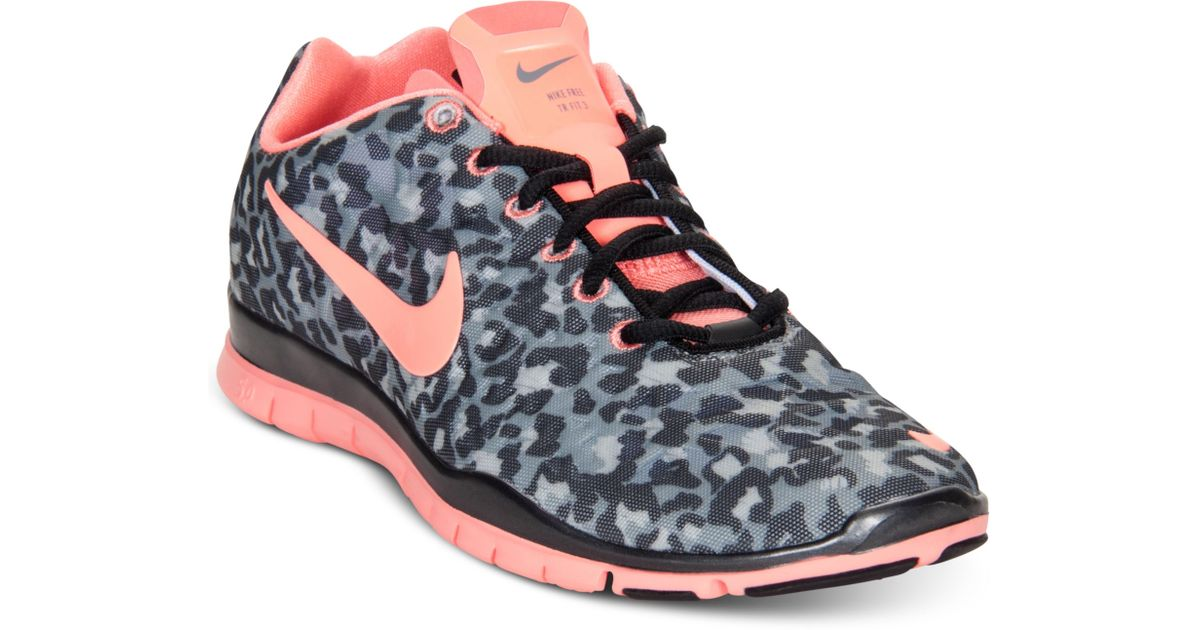 Nike Free TR 3 Fit 555159 007 Leopard Print Cheetah Sz 11 Atomic Pink Run Shoes | eBay