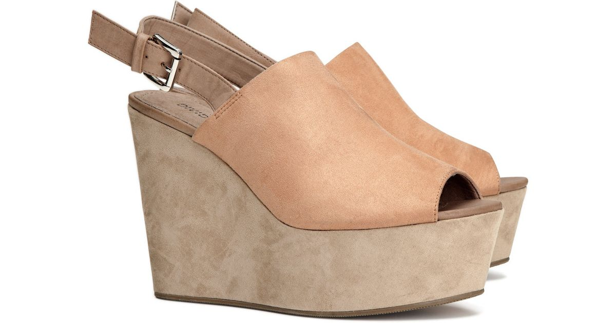 Hm Platform Shoes With A Wedge In Natural