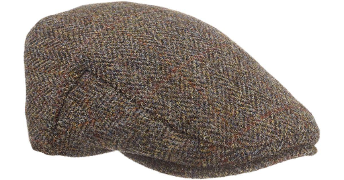 38791deb5 John Lewis Gray Harris Tweed Flat Hat for men