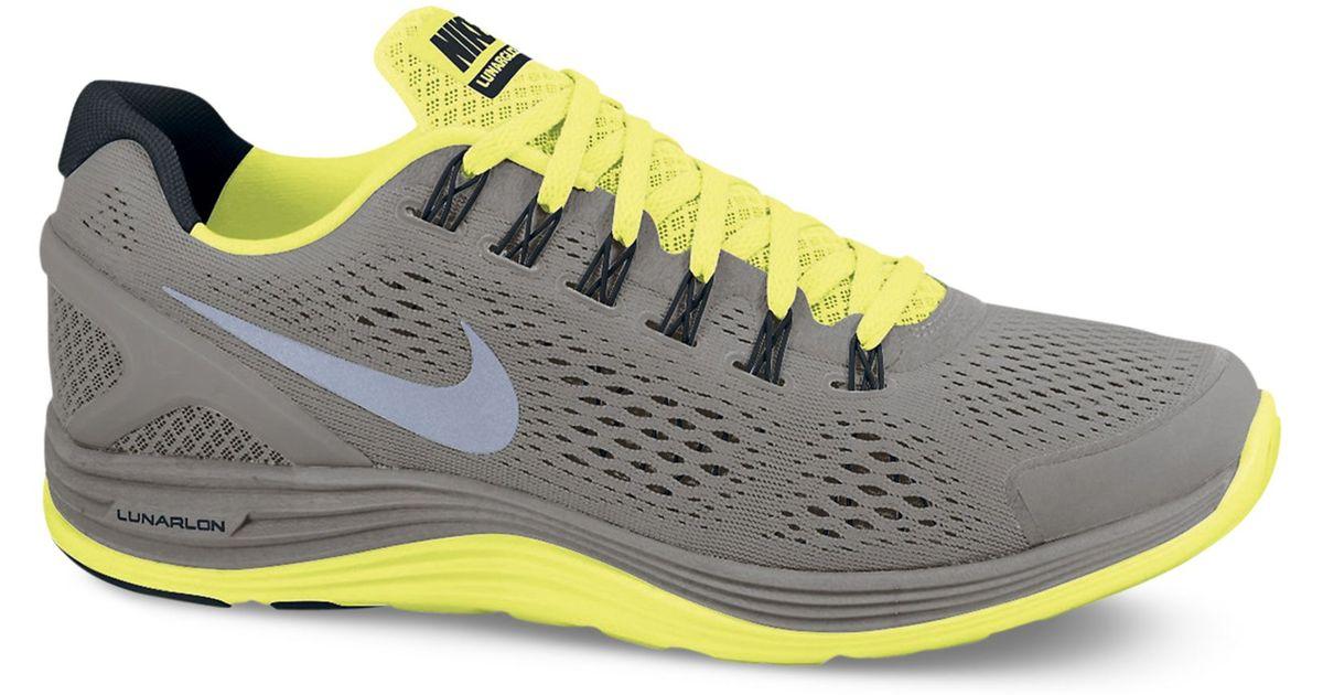 photos officielles 2ffbc 06c66 Nike Gray Lunarglide 4 Shield Sneakers for men