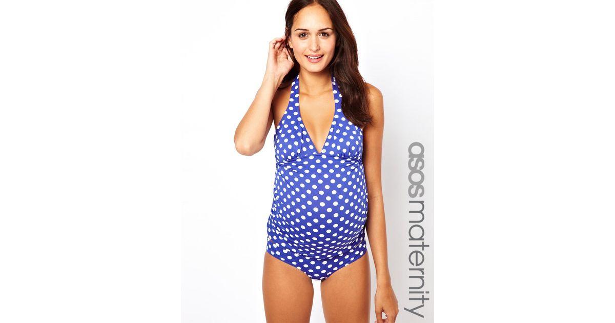 98f8ed43e3c7b Penfield Asos Maternity Exclusive Swimwear Pant in Spot in Blue - Lyst