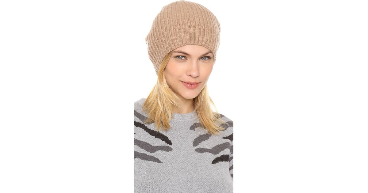 c76b2e6984cdc Club Monaco Colleen Cashmere Hat in Brown - Lyst