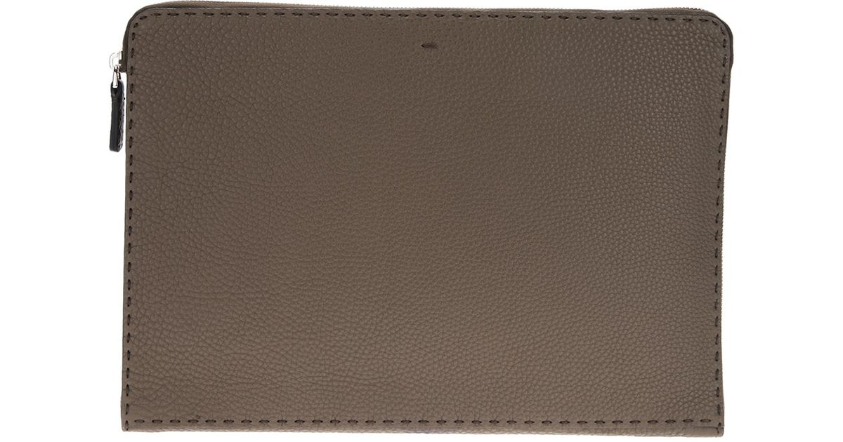 b3a7c6b6735a Lyst - Fendi Selleria Document Holder in Gray for Men