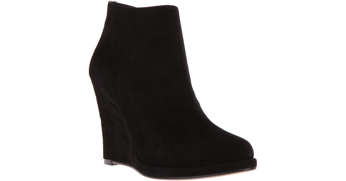 Lola cruz Wedge Ankle Boot in Black   Lyst