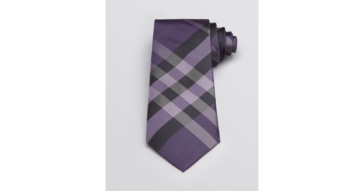 b52774d28953 ... promo code for lyst burberry london eaton large scale check classic tie  in purple for men